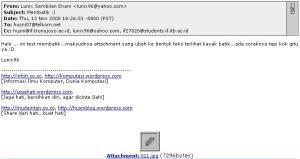 Email dalam format HTML dan tampil di Web Browser
