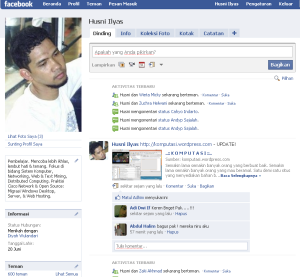 Halaman facebook saat teman mencapai pas 600 orang, hari ini jam 10 pagi